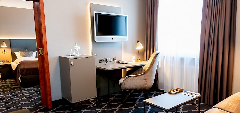Gemütliches Ambiente im Wohn- und Schlafbereich der Suiten im Kaiserhof