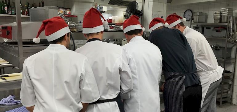 Weihnachten im Restaurant