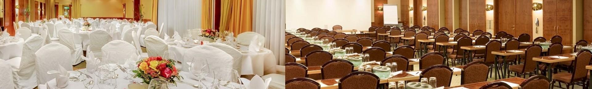 Der Kaisersaal ist mit 135 qm der größte Raum im Hotel Kaiserhof