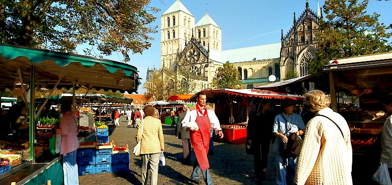 Von Mode bis Wochenmarkt, in Münster gibt es für jeden Shopping-Freund das passende
