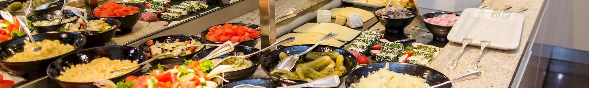 Vielseitiges, gesundes Frühstücksbuffet im Restaurant Gabriel's in Münster (Innenstadt)