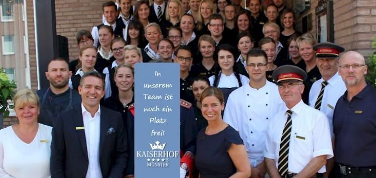 In unserem Team ist noch ein Platz frei! Stellenangebote vom Hotel Kaiserhof Münster