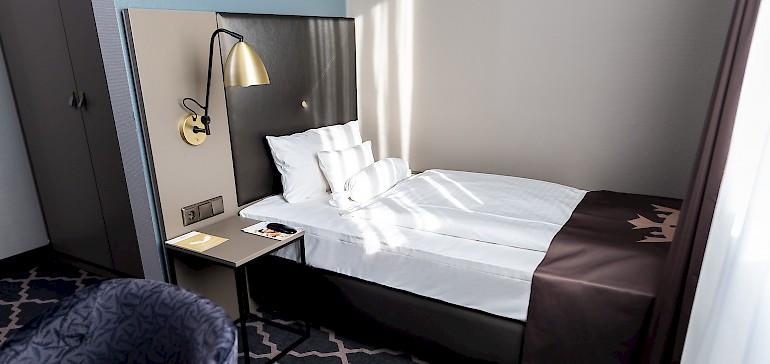Die kleinen, gemütlichen Standard-Einzelzimmer sind besonders beliebt bei Geschäftsreisenden