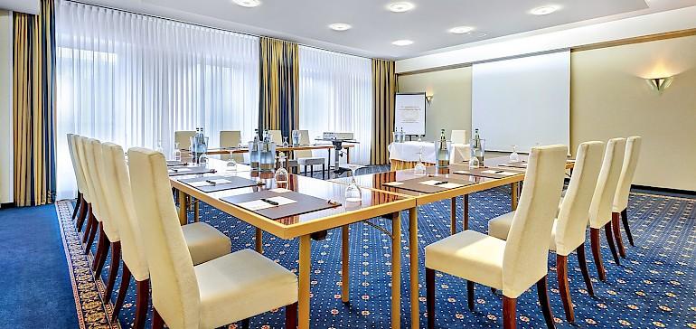 Die modernen Tagungsräume sind alle mit Tageslicht ausgestattet