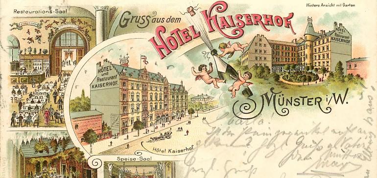 Eine Postkarte aus den Anfangsjahren des Kaiserhofs