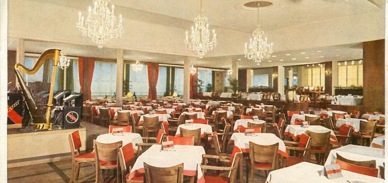 Musik- und Restaurantsaal im Kaiserhof Münster in der Nachkriegszeit