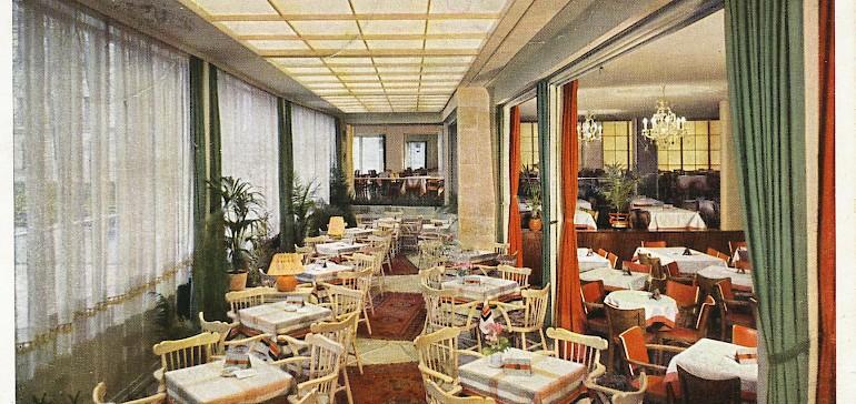 Restaurant des Kaiserhofs in der Nachkriegszeit