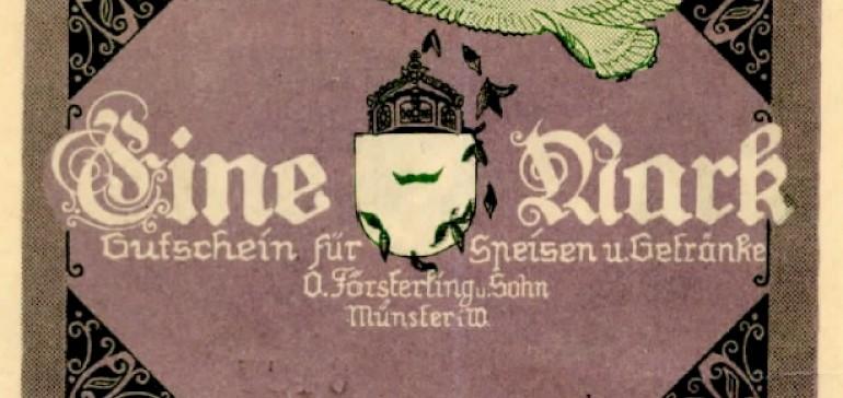 Rückseite Wertmarke vom Hotel Kaiserhof