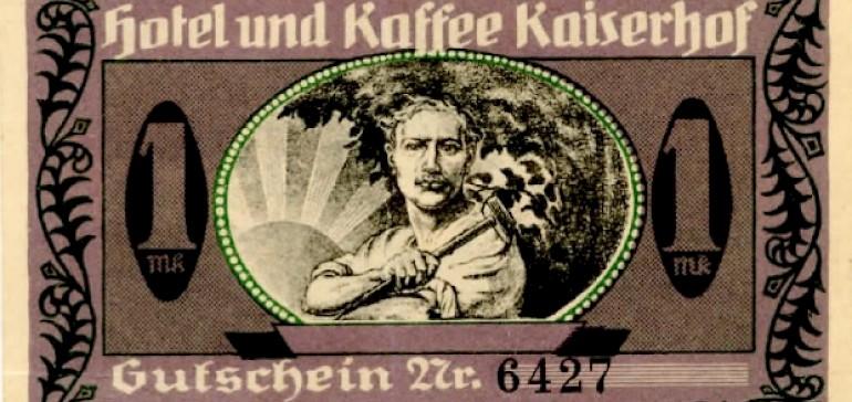 Vorderansicht Wertmarke vom Hotel Kaiserhof