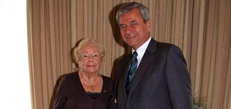 Marga Spiegel mit Kaiserhof-Eigentümer Peter Cremer