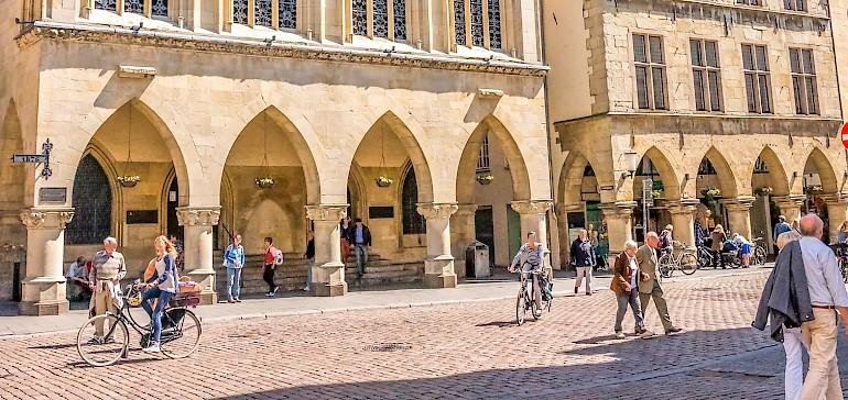 Das alte Rathaus mit Friedenssaal in Münster sollte auf jeden Fall besucht werden
