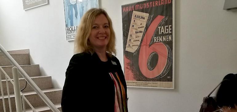 Frau Koch führte uns hinter die Kulissen der Halle Münsterland