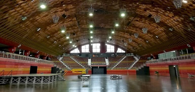 So leer haben die meisten die Konzert- und Veranstaltungshalle noch nie gesehen