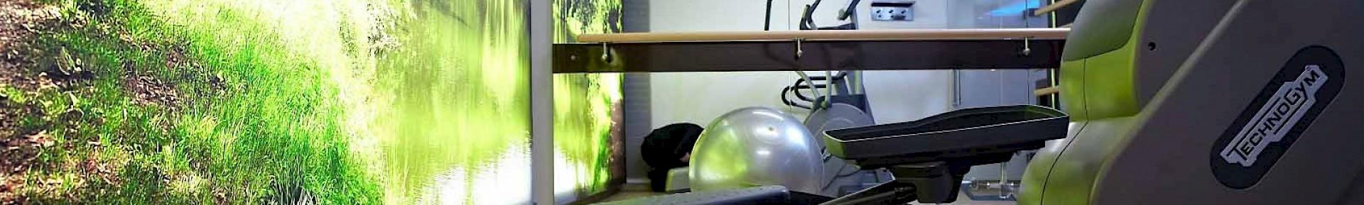 Der Fitnessraum im Kaiserhof bietet drei hochwertige Geräte