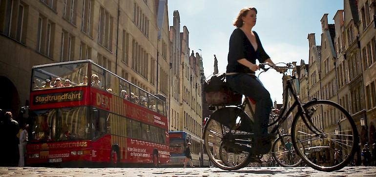 Im Münsterland-Städtereisen-Arrangement ist sowohl ein Leihfahrrad als auch die Fahrt mit dem Münsterbus inkludiert
