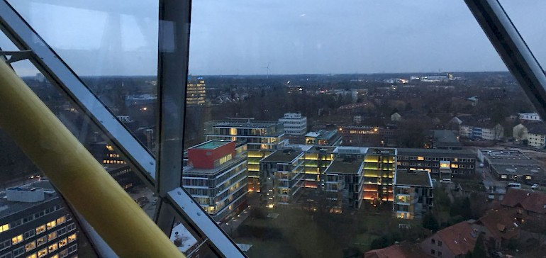In den oberen Etage hat man eine tolle Aussicht über Münster
