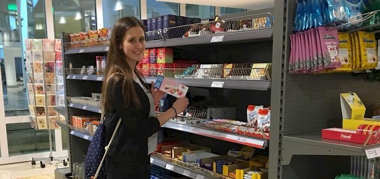 Der eigene, kleine Supermarkt im Gebäude begeistert die Azubis