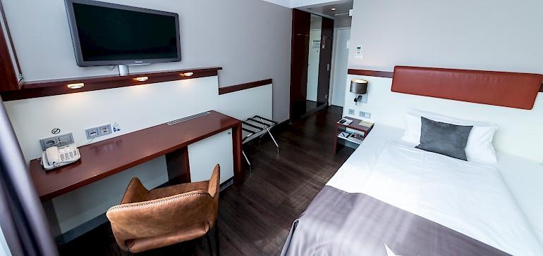 Wohnbeispiel Einzelzimmer Standard mit schmalem Bett