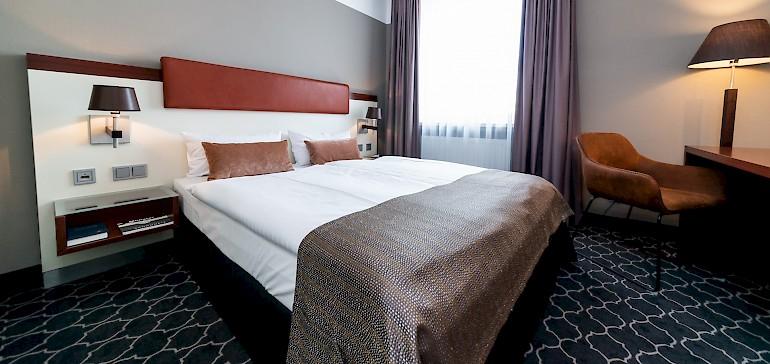 Wohnbeispiel Standard Doppelzimmer mit durchgehender Matratze