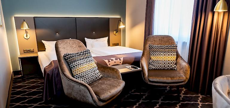Wohnbeispiel Deluxezimmer, komfortables, geräumiges Hotelzimmer