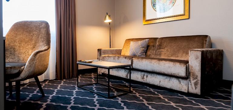 Wohnbeispiel Suite mit Schlafsofa im Wohnraum für die dritte und vierte Person