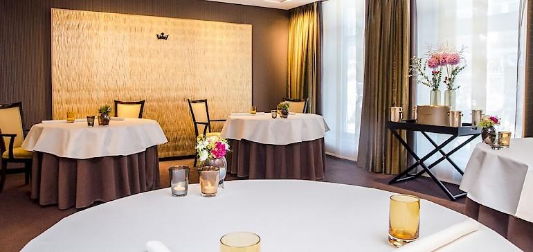 Im Restaurant Gabriel's in Münster können Sie Ihr Geschäftsessen auch in einem privaten Séparée abhalten