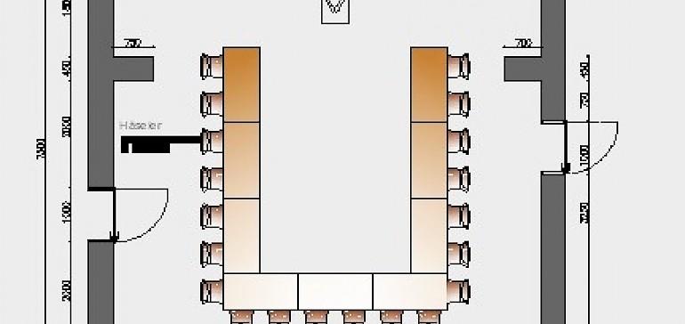Raumskizze Kardinal-von-Galen in U-Form