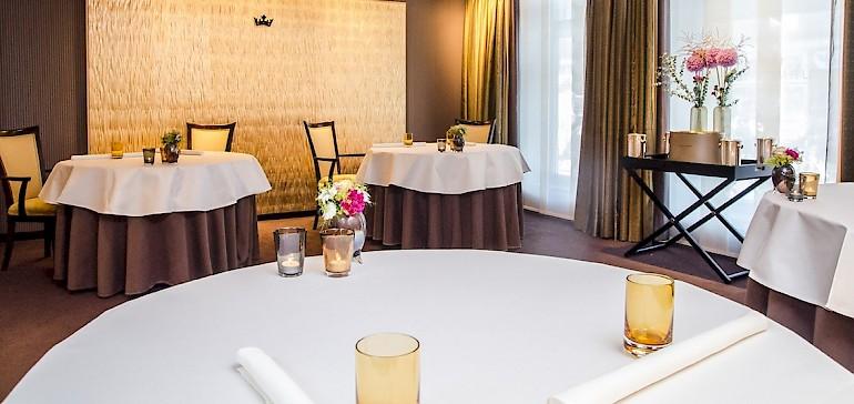 Privates Séparée im Restaurant Gabriel's für ungestörte Feiern und Geschäftsessen in kleinem Rahmen