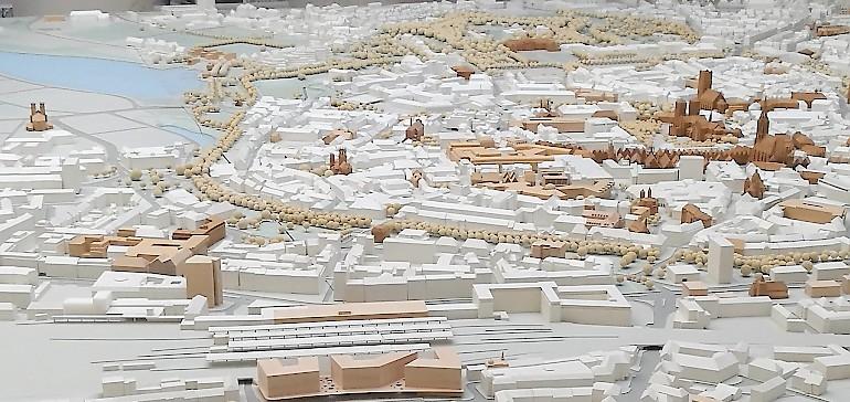 Modellbau der Innenstadt von Münster, Westfalen