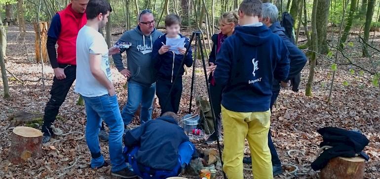 Eine gute Idee für ein Teamevent ist das Outdoor-Exit-Game im Kletterwald Haltern