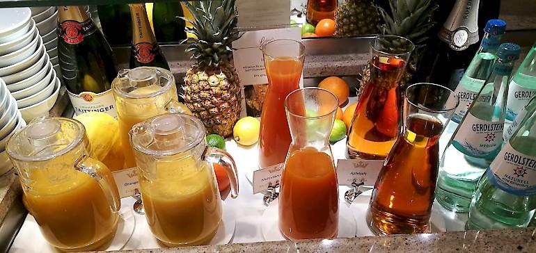Fruchtsäfte sind eine tolle Ergänzung zu einem gesunden Frühstück