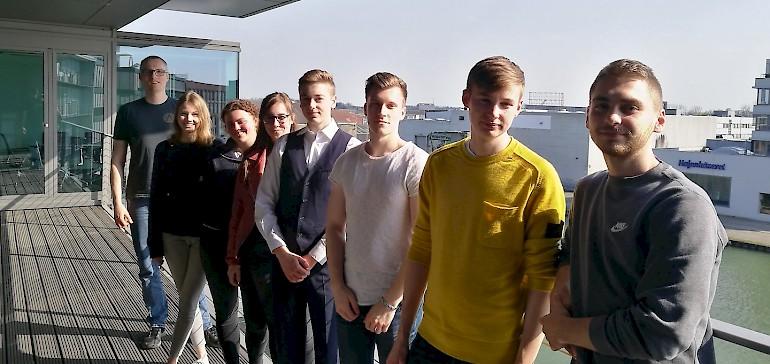Wir haben unsere Werbeagentur DREIKON besucht und durften auch auf den Chefbalkon mit Blick auf den Münsteraner Hafen