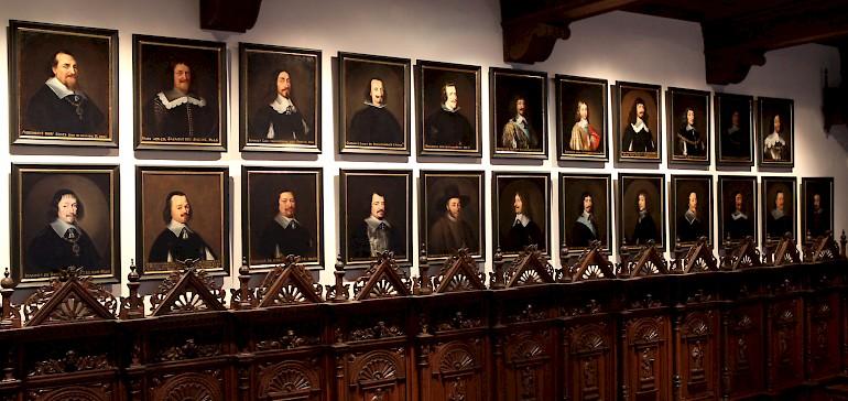 Mit dem Europäischen Kulturerbe-Siegel ausgezeichnet ist der Friedenssaal einer der bedeutendsten Orte in Münster