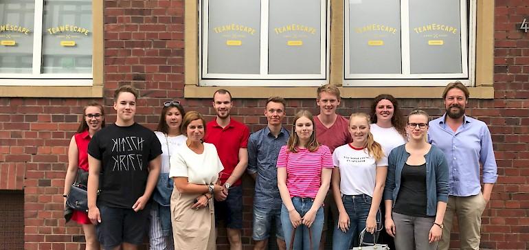 Gleich geht es los: Wir sind bei TeamEscape Münster angekommen, denn es liegt praktisch vor der Haustür