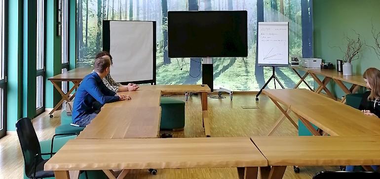 Der Themen-Tagungsraum Wald ist sehr insprierend