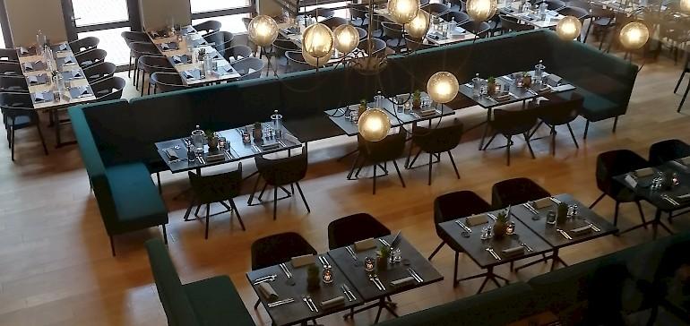 Auch das Restaurant Karls im Arcadeon ist stilvoll eingerichtet