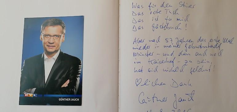 2016, zur Taufe der berühmten MS Günther, nächtigte Günther Jauch im Kaiserhof