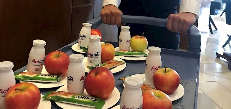 Unsere Gäste werden kontaktfrei bei Tagung und Frühstück verpflegt.